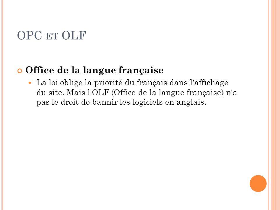 OPC et OLF Office de la langue française