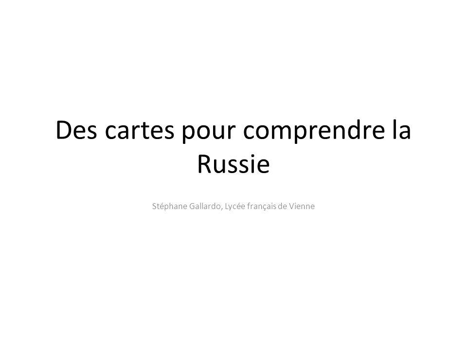 Des cartes pour comprendre la Russie