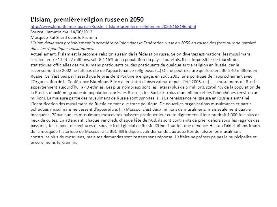L'Islam, première religion russe en 2050