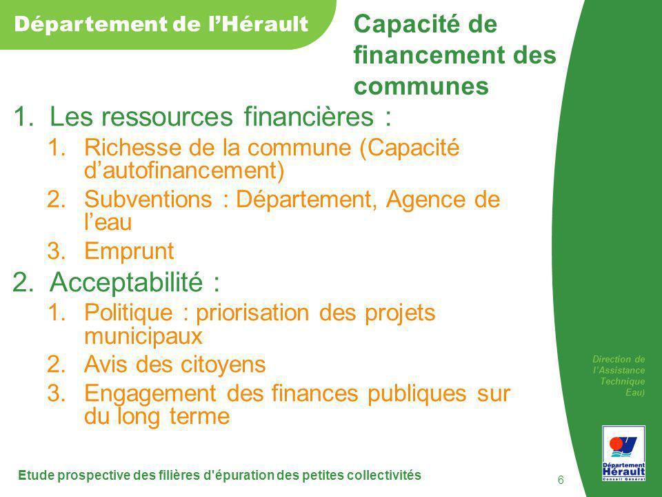Capacité de financement des communes