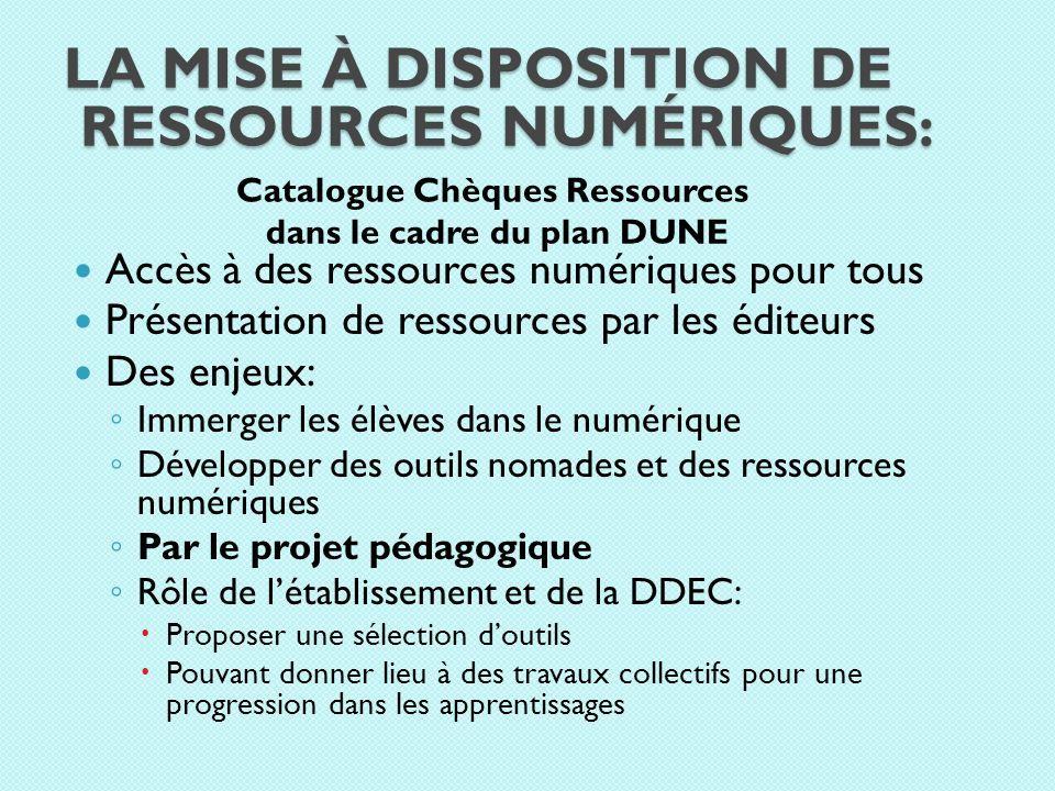 La mise à disposition de ressources numériques: