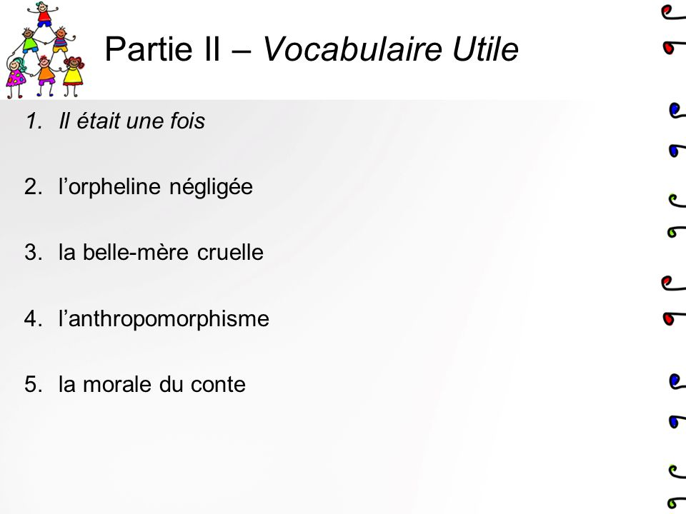 Partie II – Vocabulaire Utile