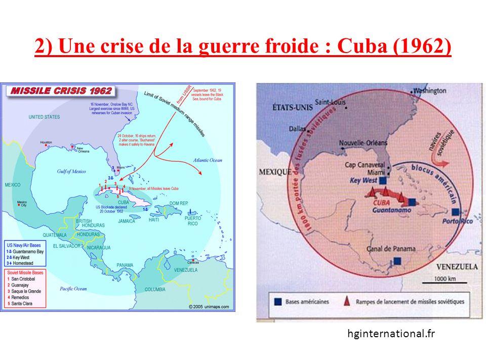 2) Une crise de la guerre froide : Cuba (1962)