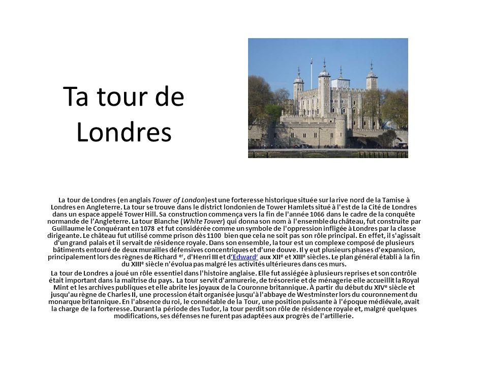 Ta tour de Londres
