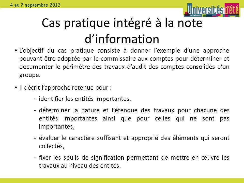 Cas pratique intégré à la note d'information