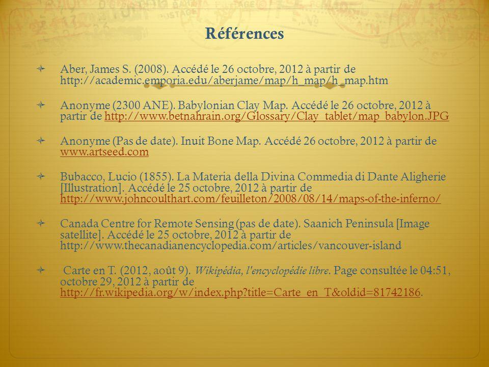 Références Aber, James S. (2008). Accédé le 26 octobre, 2012 à partir de http://academic.emporia.edu/aberjame/map/h_map/h_map.htm.