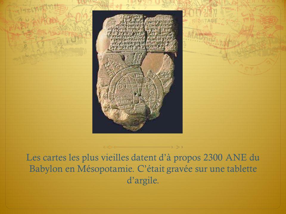 Les cartes les plus vieilles datent d'à propos 2300 ANE du Babylon en Mésopotamie.