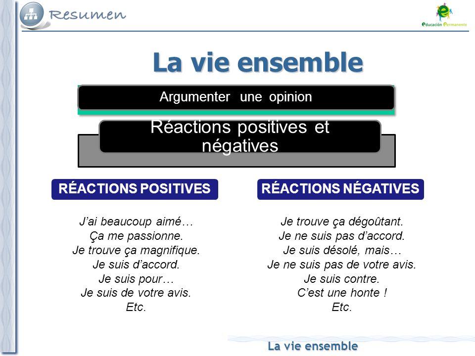 La vie ensemble Réactions positives et négatives