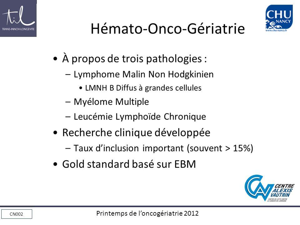 Hémato-Onco-Gériatrie