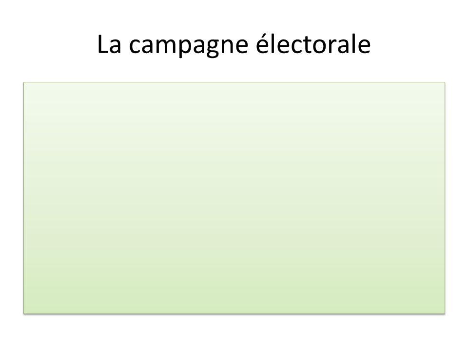 La campagne électorale