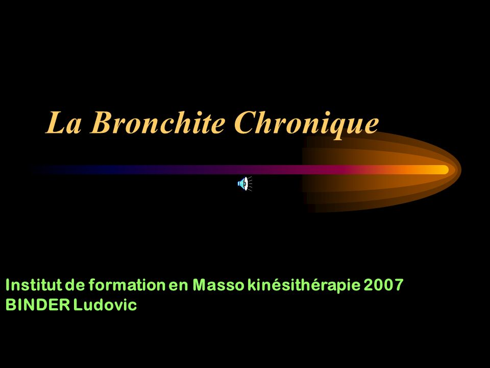 La Bronchite Chronique
