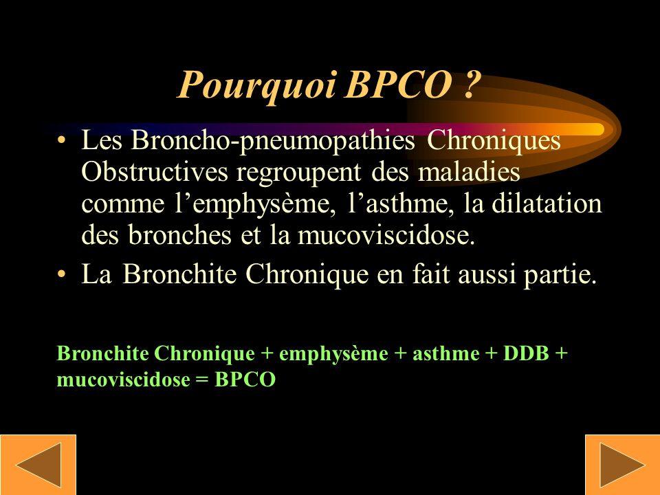 Pourquoi BPCO