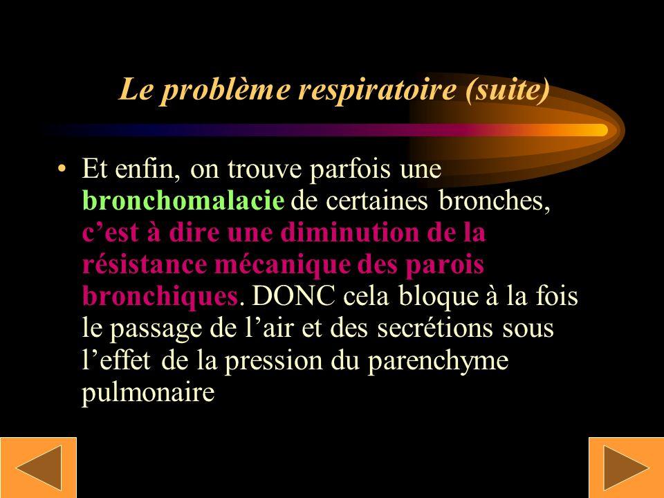 Le problème respiratoire (suite)