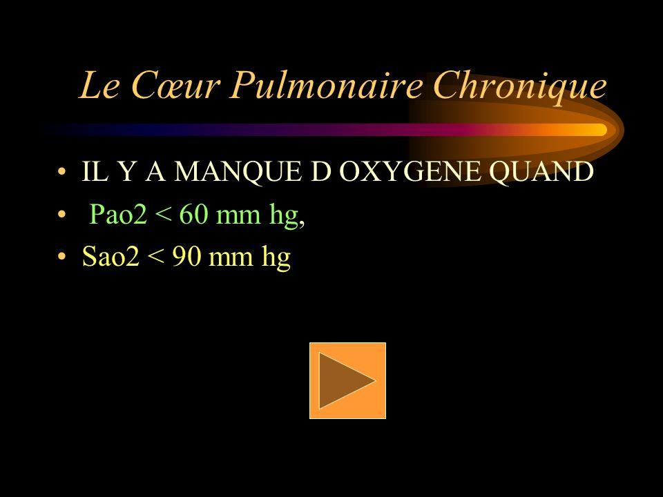 Le Cœur Pulmonaire Chronique