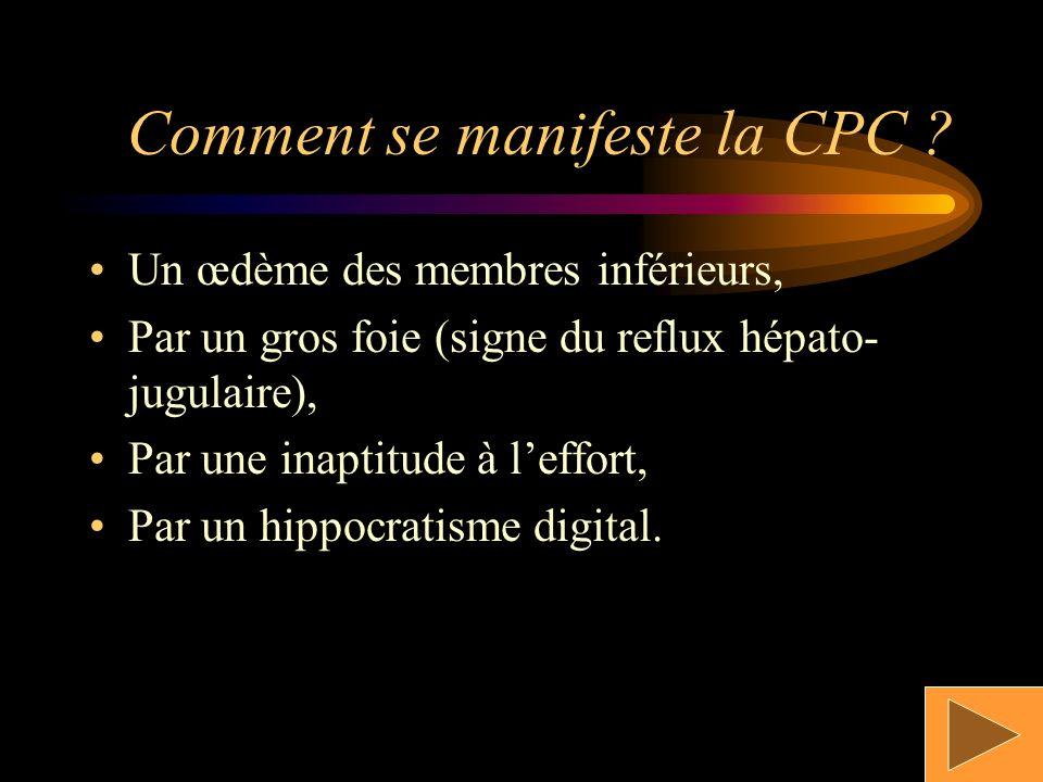 Comment se manifeste la CPC
