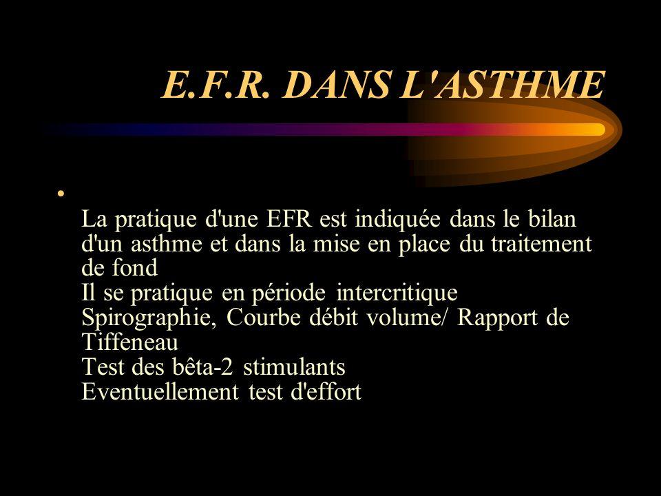 E.F.R. DANS L ASTHME