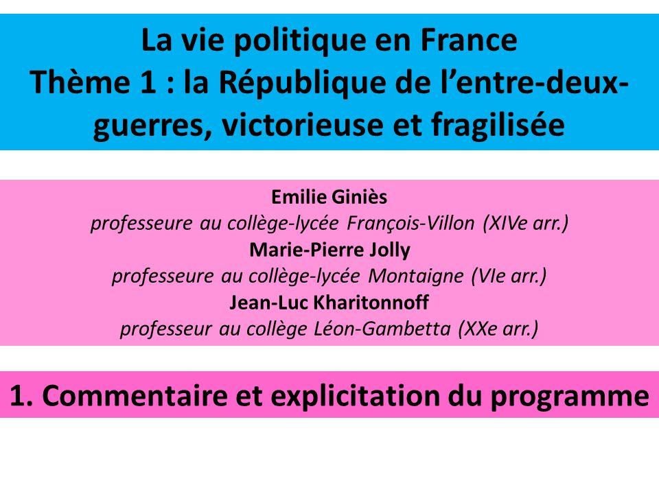 Jean-Luc Kharitonnoff 1. Commentaire et explicitation du programme