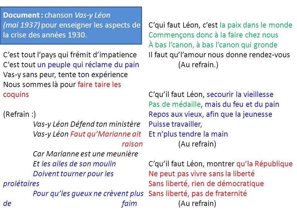 Document : chanson Vas-y Léon