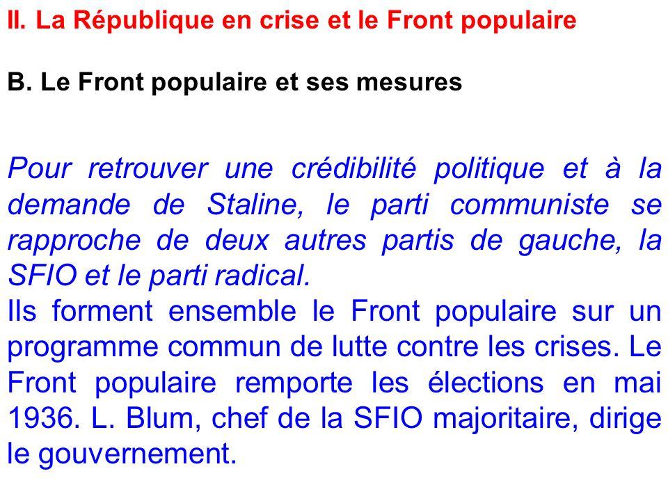 II. La République en crise et le Front populaire