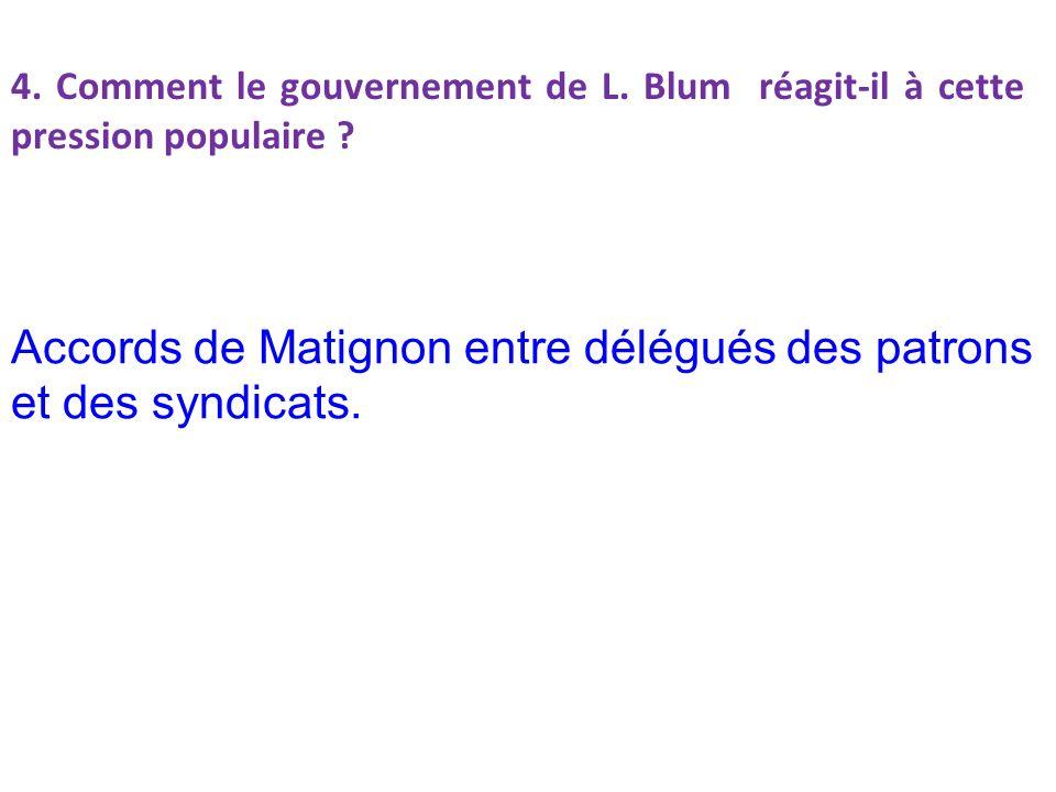 Accords de Matignon entre délégués des patrons et des syndicats.
