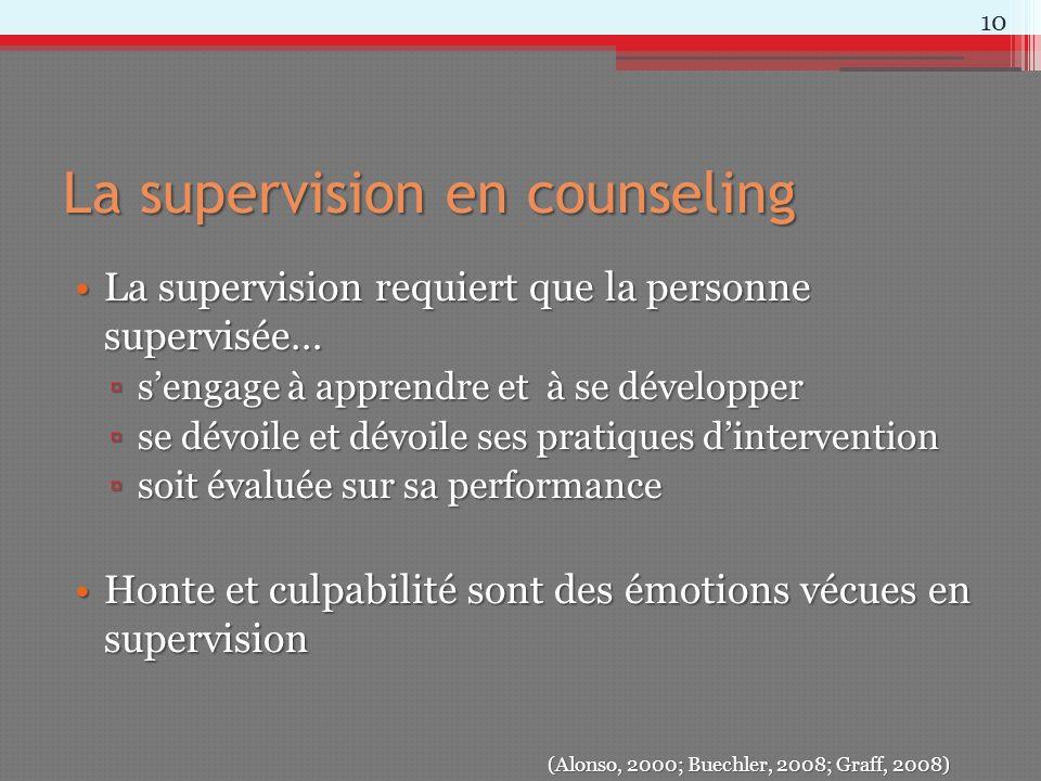 La supervision en counseling