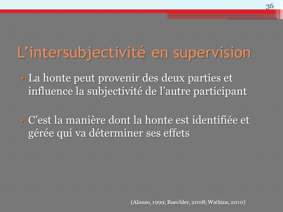 L'intersubjectivité en supervision