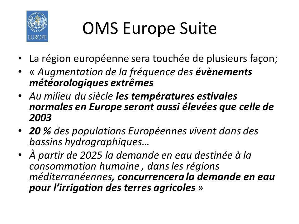 OMS Europe Suite La région européenne sera touchée de plusieurs façon;