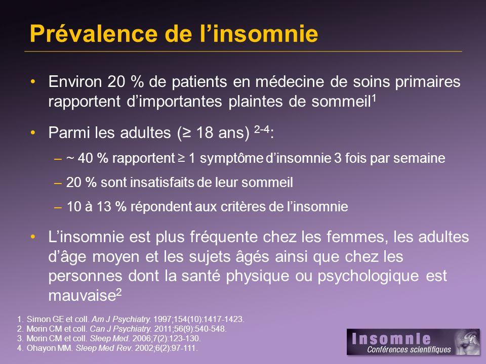 Prévalence de l'insomnie