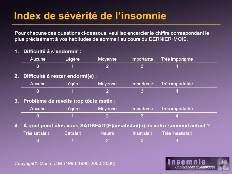 Index de sévérité de l'insomnie