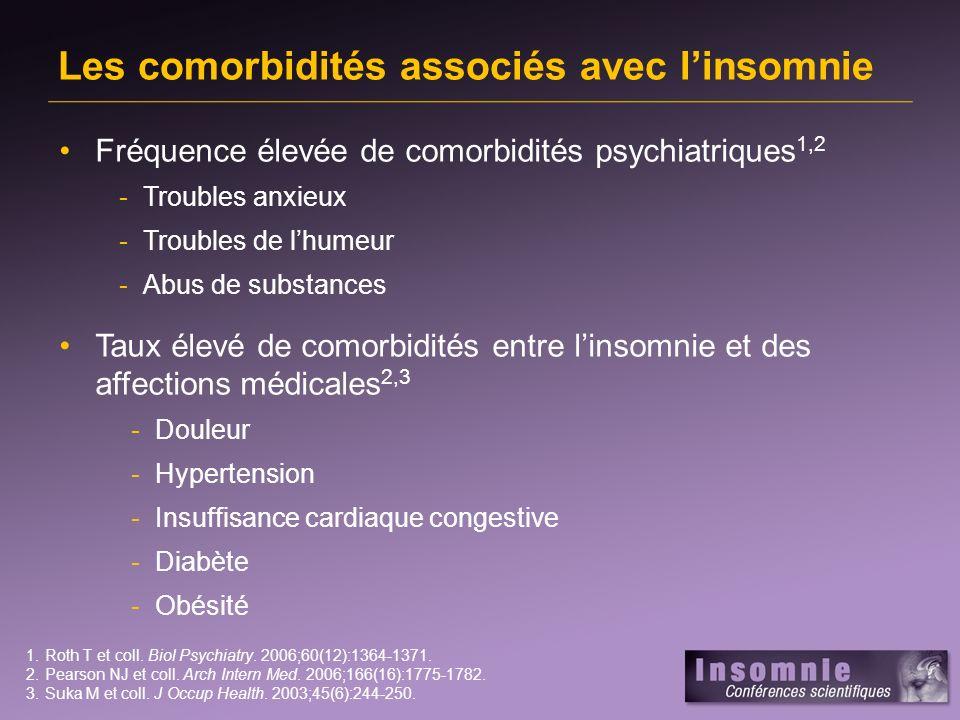 Les comorbidités associés avec l'insomnie