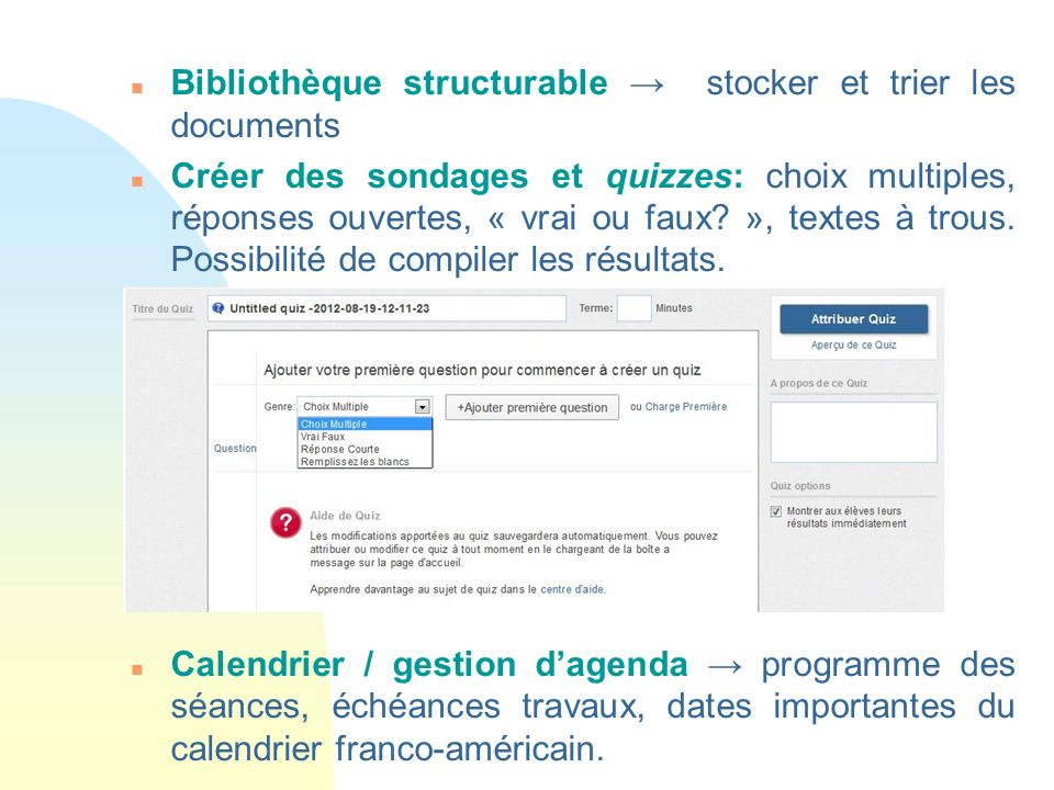 Bibliothèque structurable → stocker et trier les documents