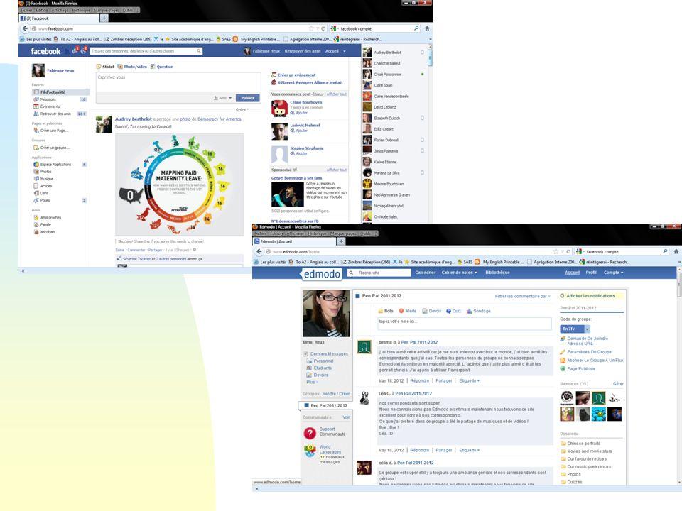 29/03/2017 Facebook et Edmodo: des interfaces très proches…