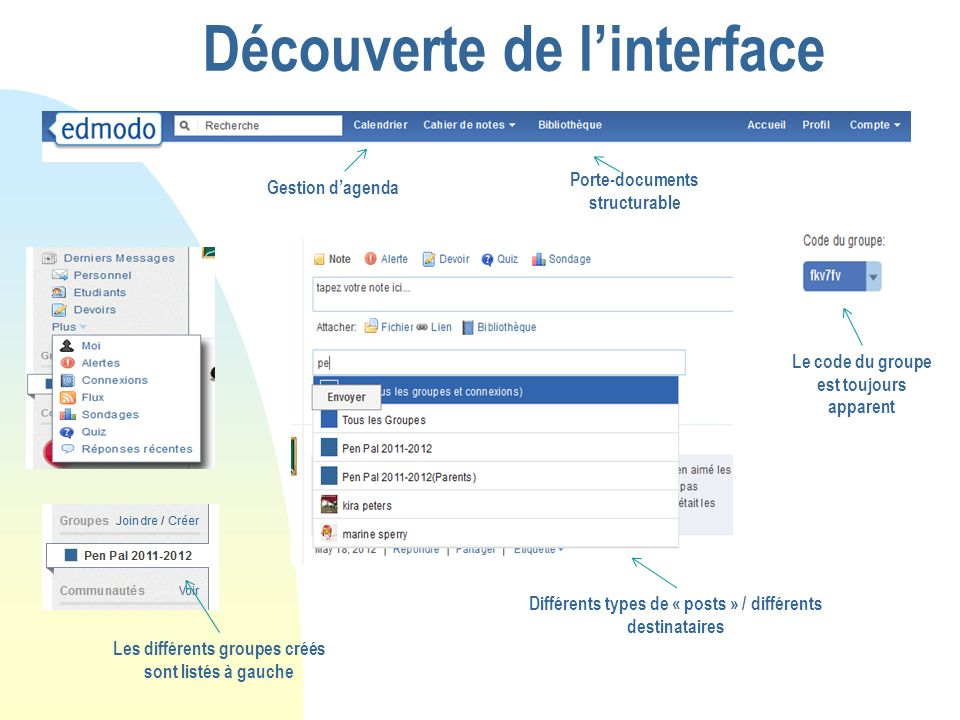 Découverte de l'interface