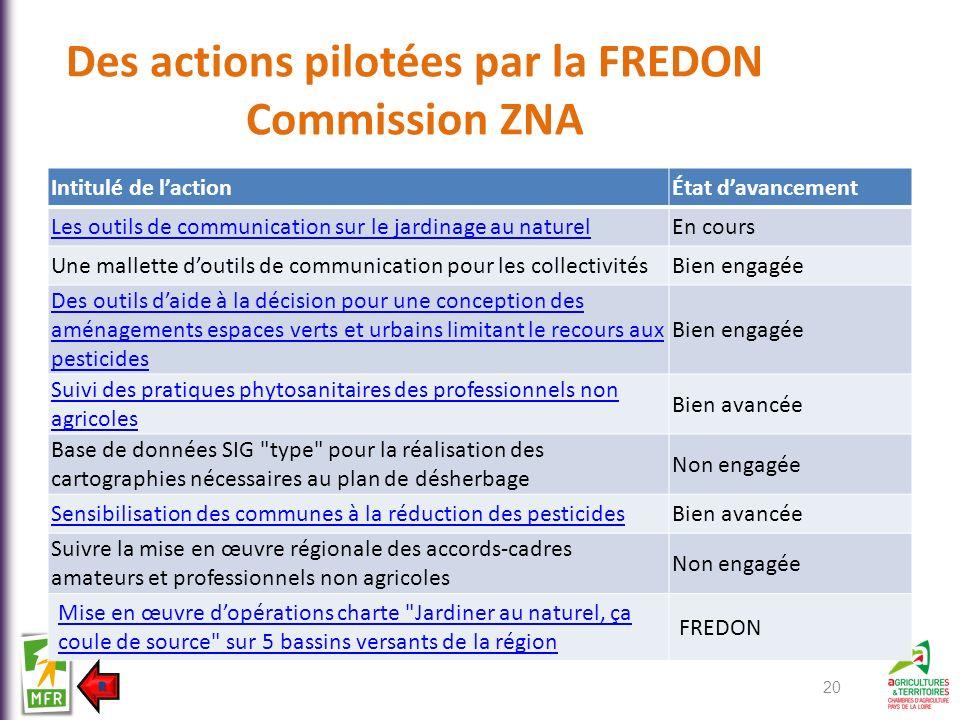 Des actions pilotées par la FREDON Commission ZNA