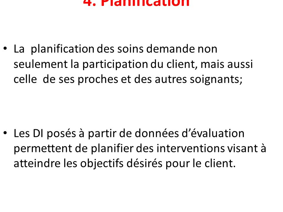 4. Planification