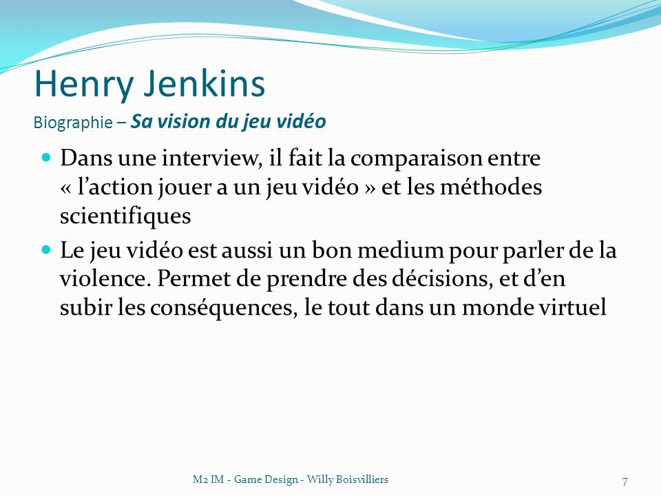 Henry Jenkins Biographie – Sa vision du jeu vidéo