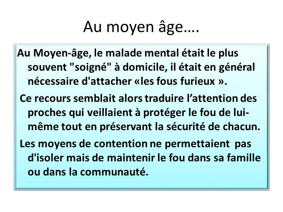 Au moyen âge….