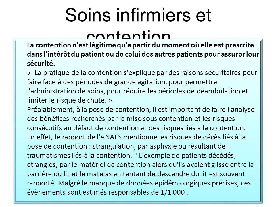 Soins infirmiers et contention…