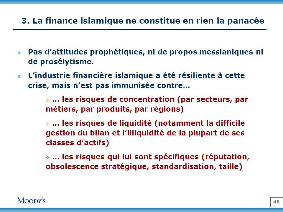 3. La finance islamique ne constitue en rien la panacée
