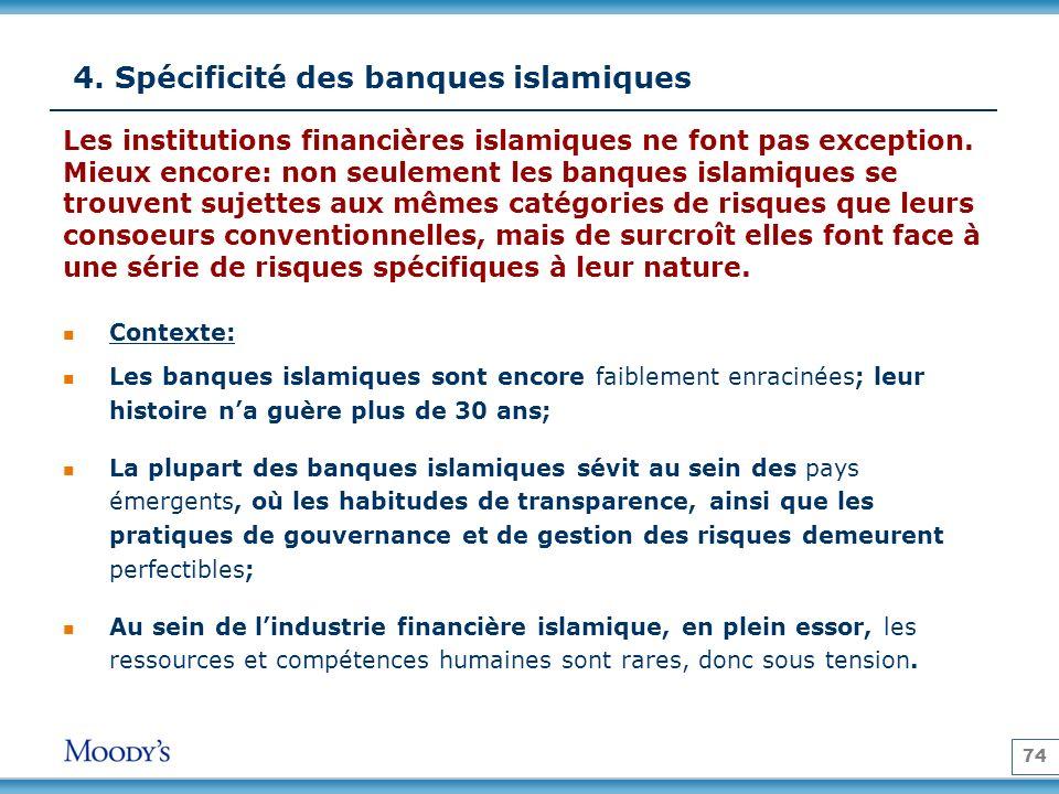4. Spécificité des banques islamiques
