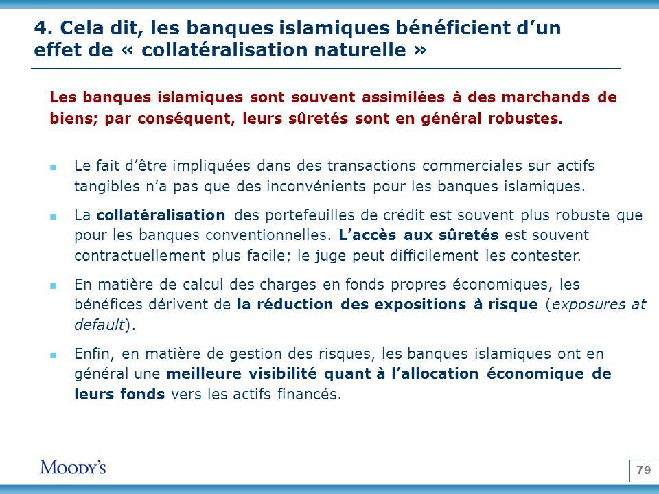 4. Cela dit, les banques islamiques bénéficient d'un effet de « collatéralisation naturelle »