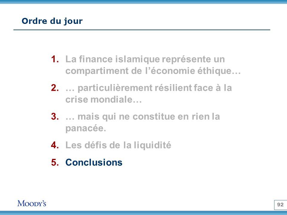 La finance islamique représente un compartiment de l'économie éthique…
