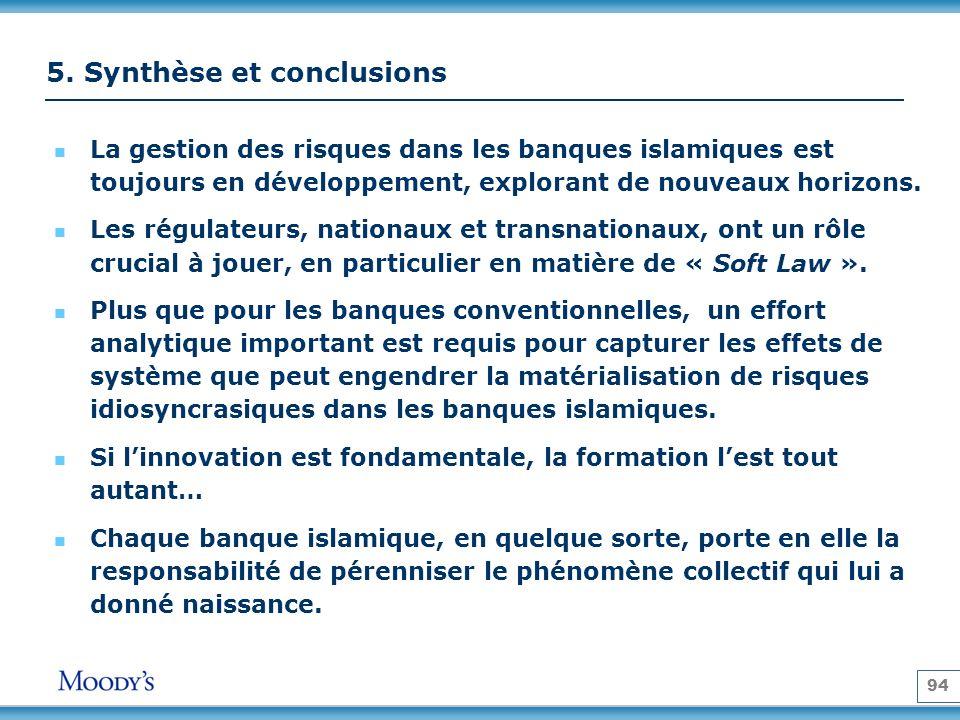 5. Synthèse et conclusions