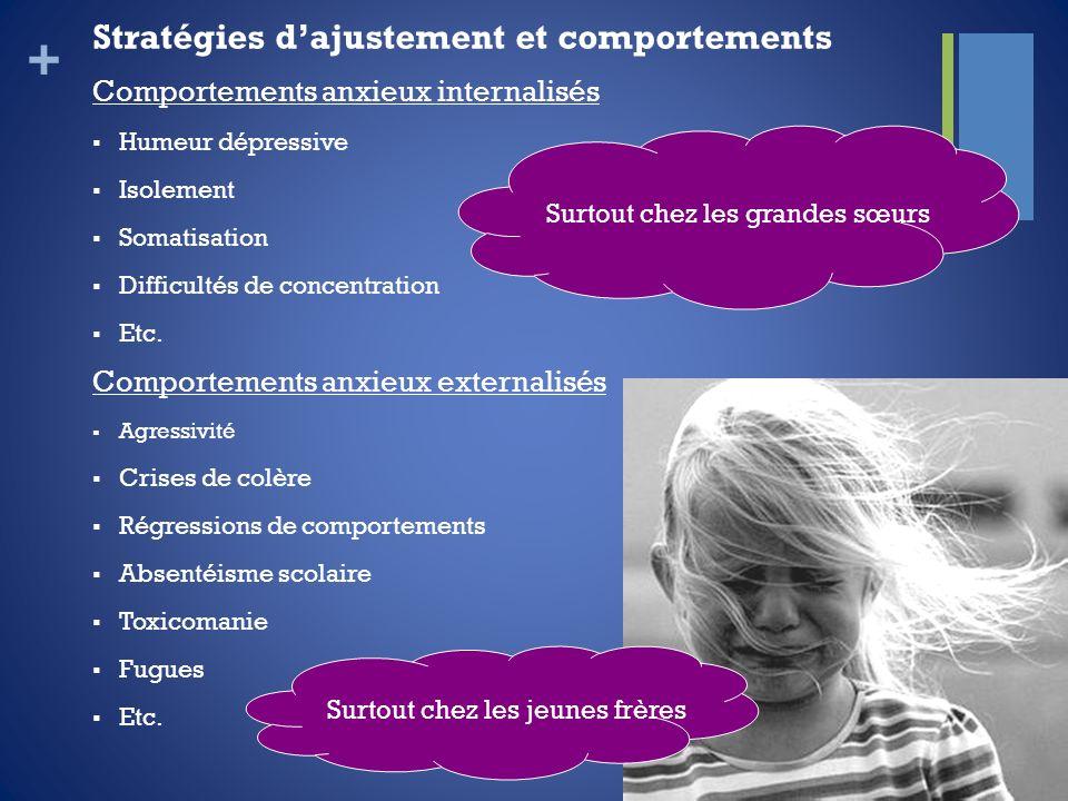 Stratégies d'ajustement et comportements