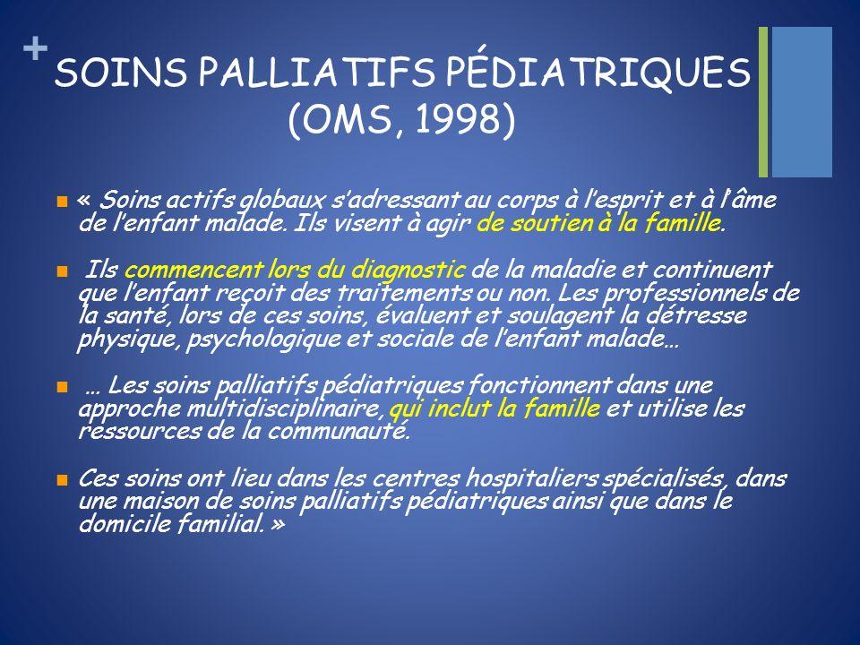 SOINS PALLIATIFS PÉDIATRIQUES (OMS, 1998)