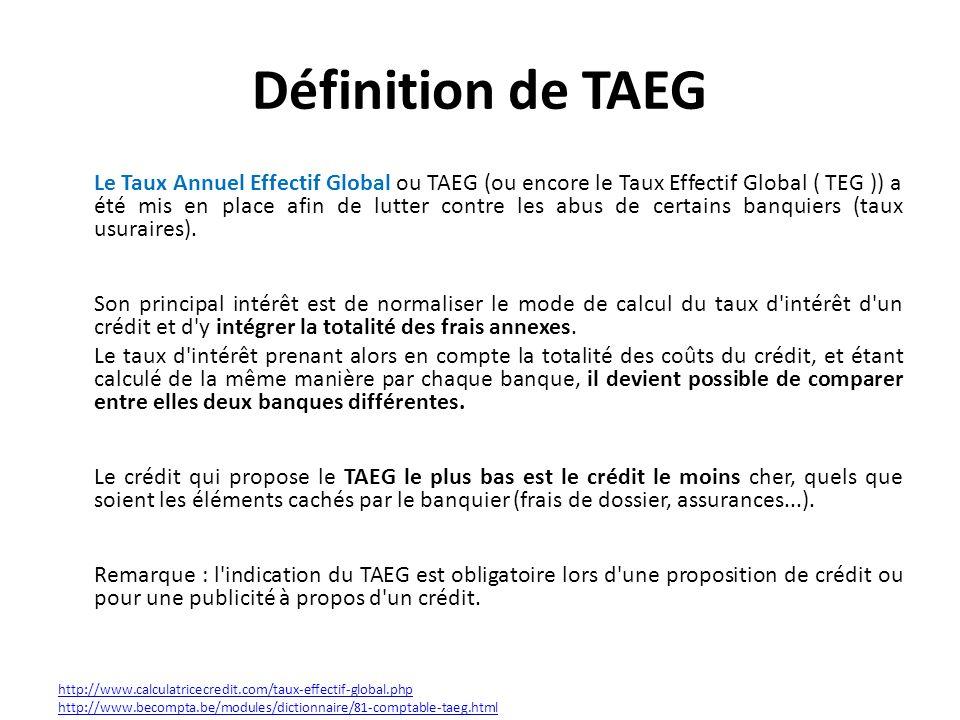 Définition de TAEG