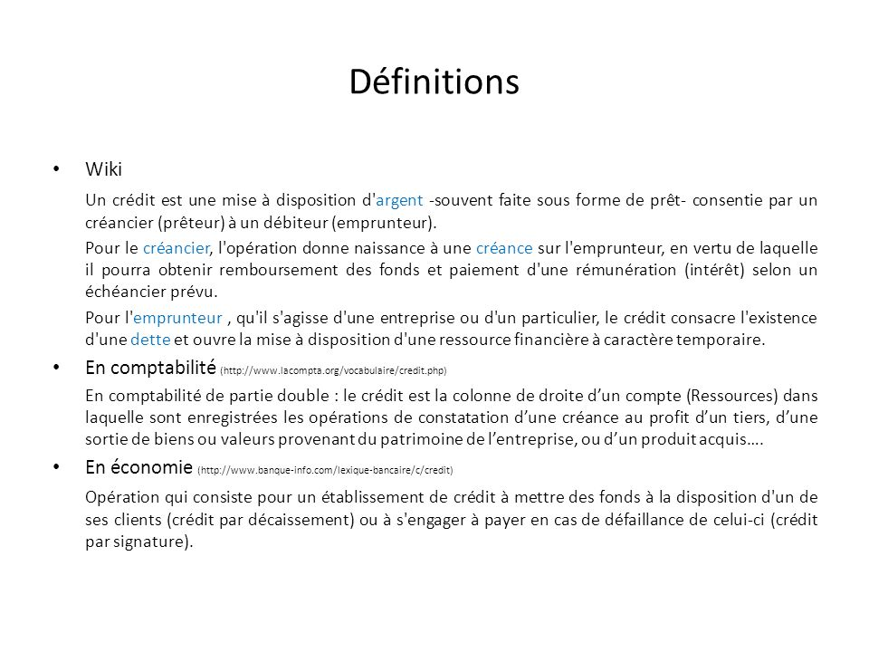 Définitions Wiki.