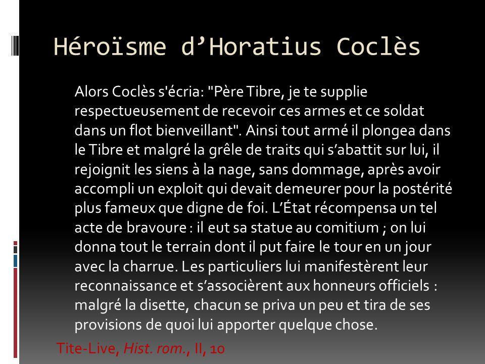 Héroïsme d'Horatius Coclès