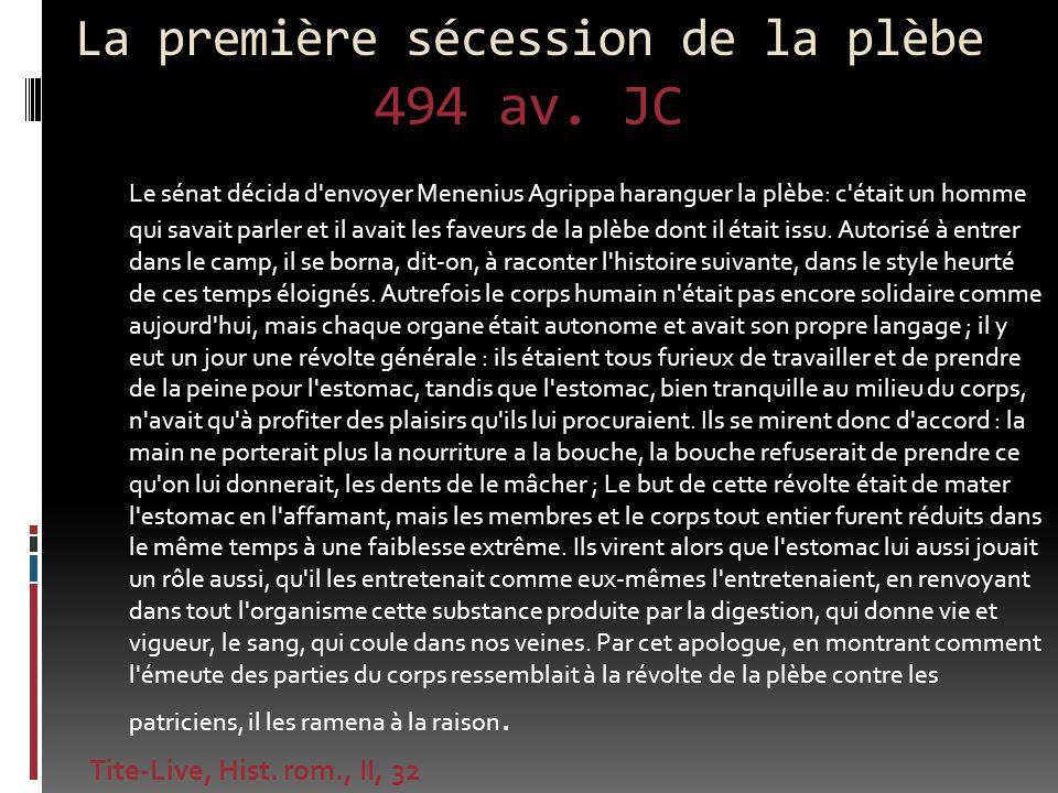 La première sécession de la plèbe 494 av. JC