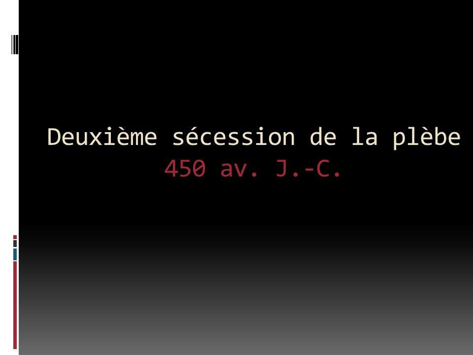 Deuxième sécession de la plèbe 450 av. J.-C.